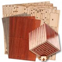 Silver City Luxe Puzzle Box Bausatz Grau/Rot