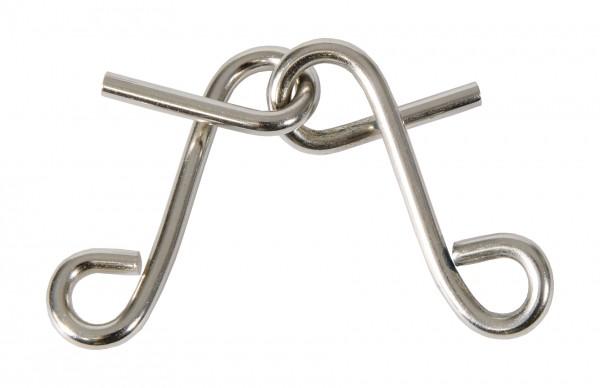 """Metallpuzzle """"Doppeltes S"""" in der Streichholzschachtel"""