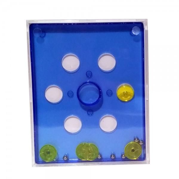 """Geduldspiel """"Mini Game"""" neon blau"""