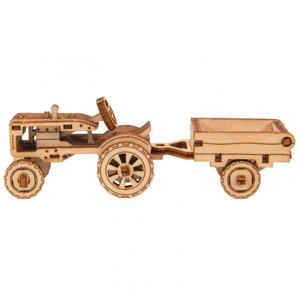 Wooden City Superfast: Work Horse 3 (Classic Tractor + Trailer)