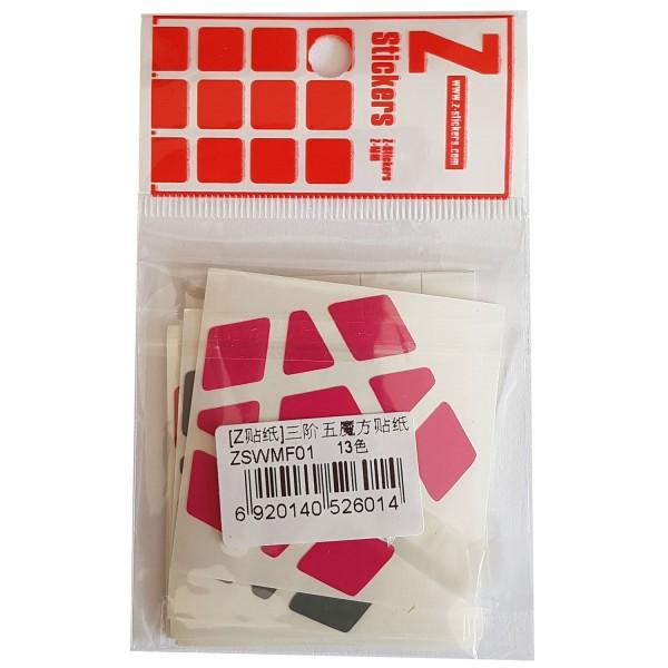 Z-Stickers für Megaminx