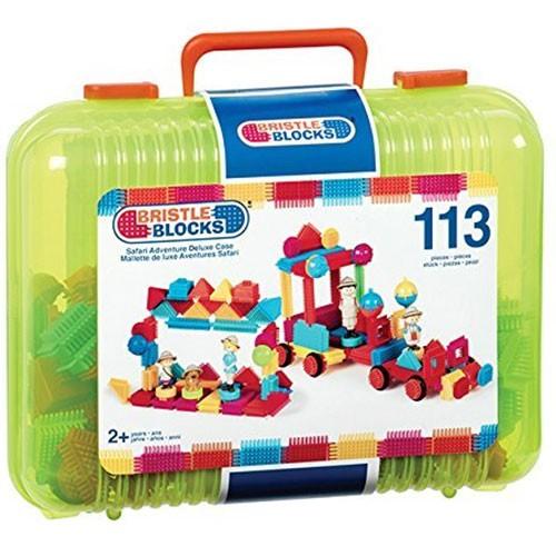 Bristle Blocks 113 Teile im Koffer, grün