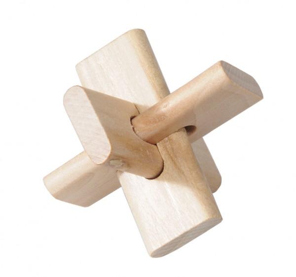 """Holzpuzzle """"Kreuz"""" in der Streichholzschachtel"""