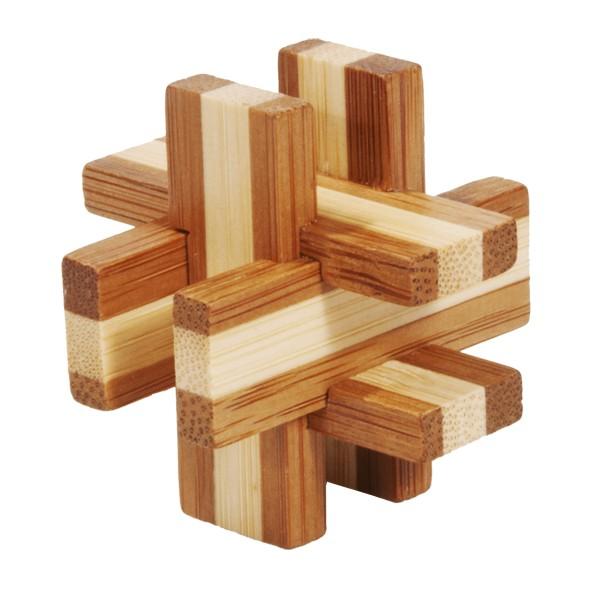 """Bambus-Puzzle in der Dose """"Geduldsbrettchen"""""""