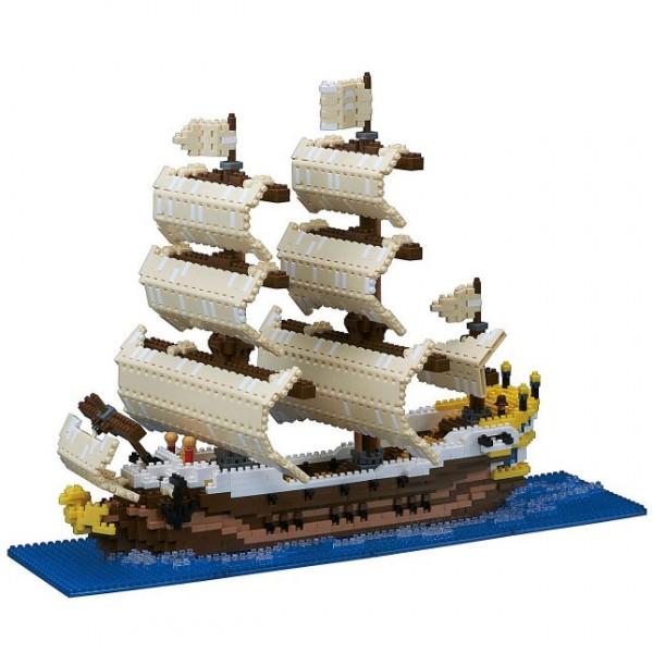 Nanoblock: Segelschiff