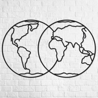 Holz-Wandpuzzle: Hemisphere of Earth