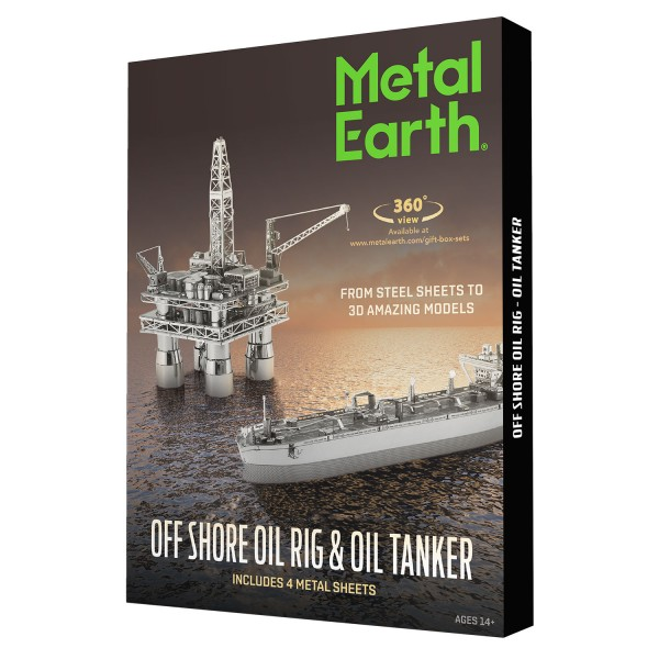 Metal Earth: Offshore Oil Rig & Tanker in Box