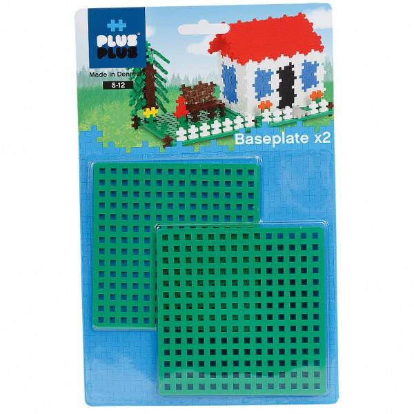 Plus-Plus Basisplatten 12x12 cm, Duo Pack, grün