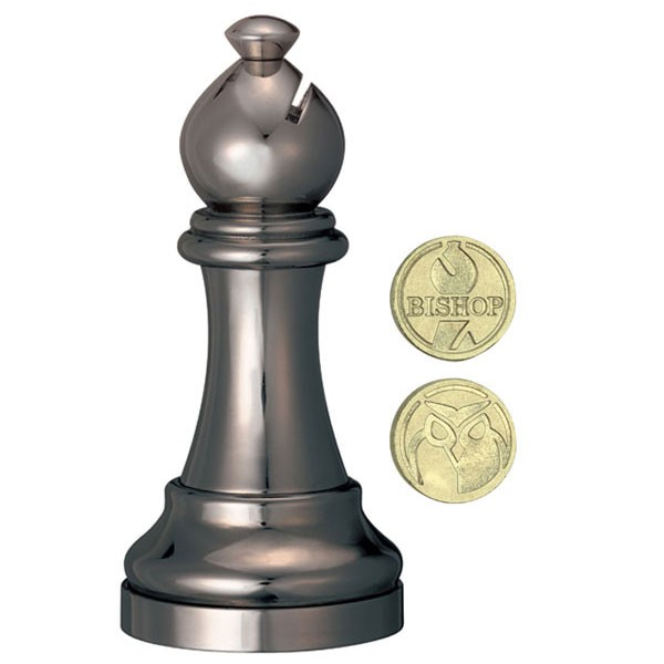 Cast Chess Black Bishop (Läufer)