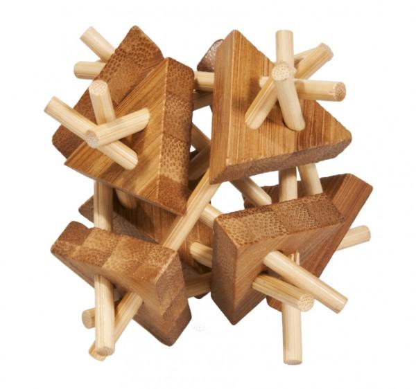 """Bambuspuzzle """"Stäbe mit Dreiecken"""""""
