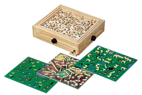 Labyrinth (32,5x28,5cm) mit 4 Spielplänen