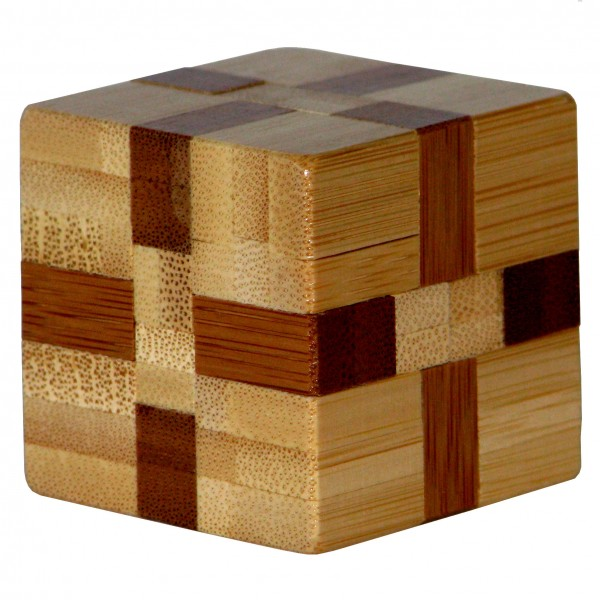 """Kleines Bambus Puzzle """"Cube"""""""