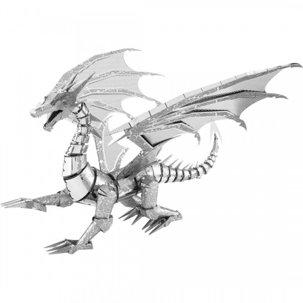 Metal Earth: Iconx Silver Dragon