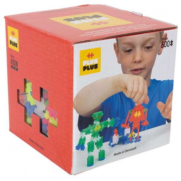 Plus-Plus Mini Neon: 600 Bausteine