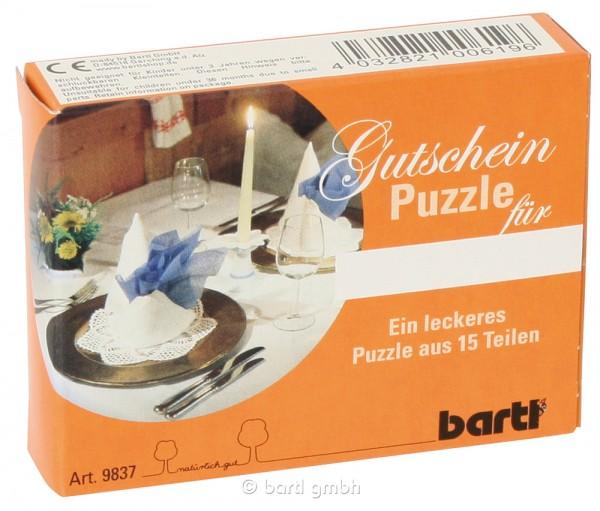 """Gutscheinpuzzle """"Dinner"""""""