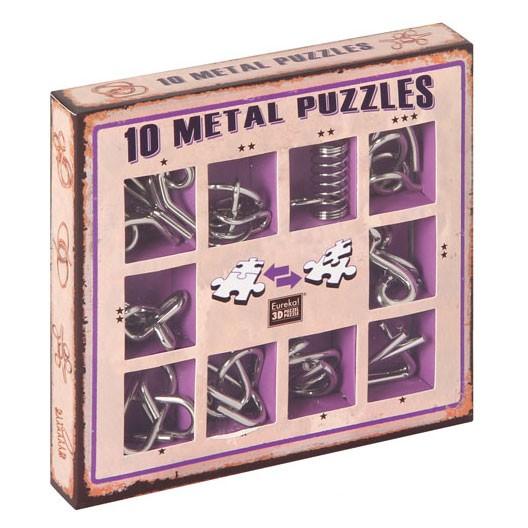 "10 Metallpuzzle im Set ""violett"""