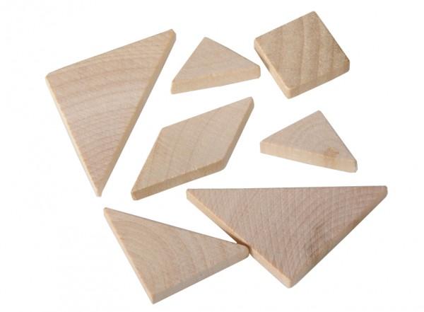 """Holzpuzzle """"Tangram"""" in der Streichholzschachtel"""
