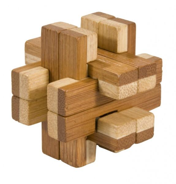 """Bambus-Puzzle in der Dose """"Doppelblock"""""""