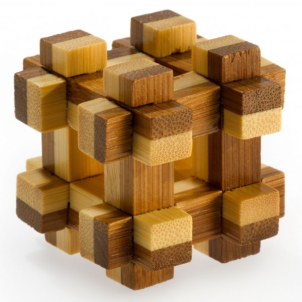 """Kleines Bambus Puzzle """"Prison House"""""""