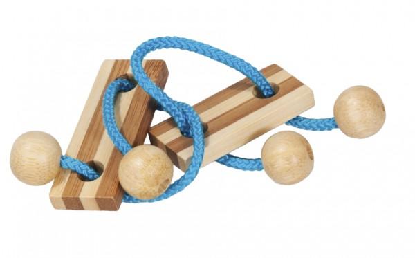 Seilpuzzle in der Dose blau
