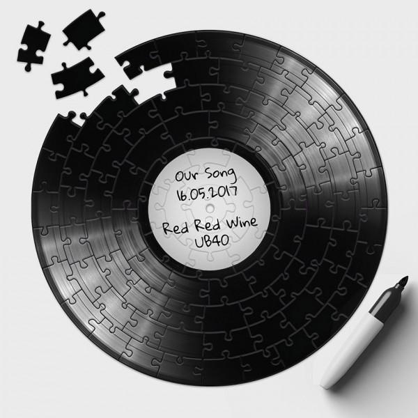 Schallplatten Puzzle