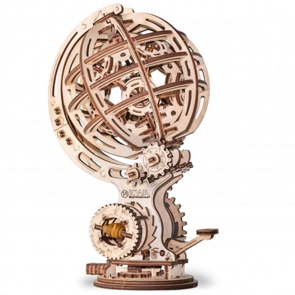 Eco Wood Art: Kinetic Globe
