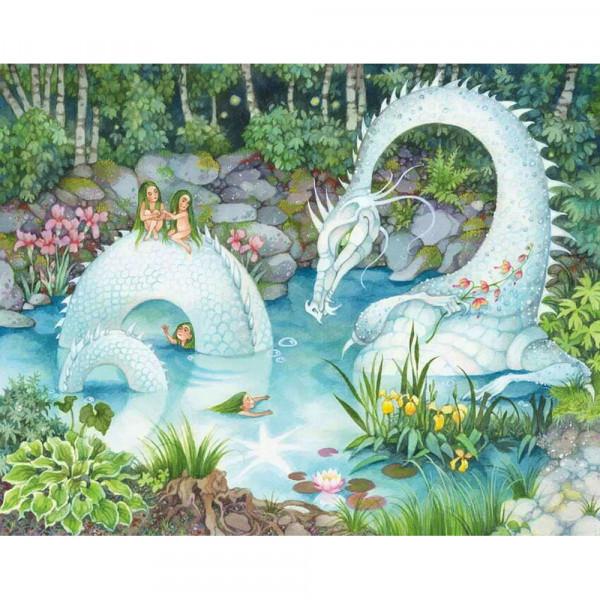 DaVici Puzzle - Ein Drache im Wald