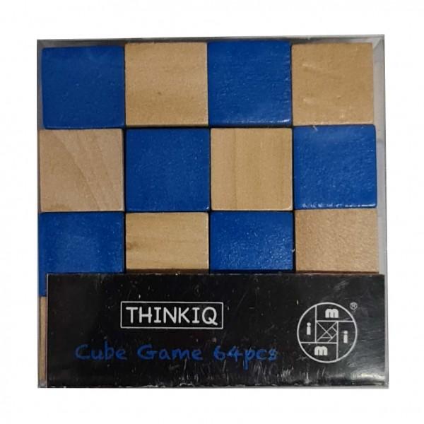 Cube Game 64 Pieces Blau