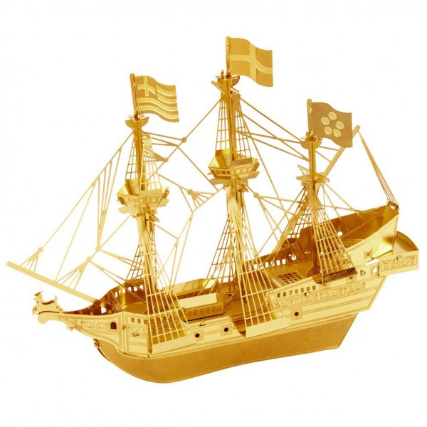 Metal Earth: Golden Hind gold