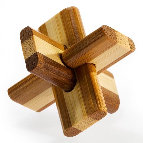 "Kleines Bambus Puzzle ""Doublecross"""