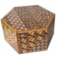 Himitsu Bako Hexagon 6 Steps Yosegi