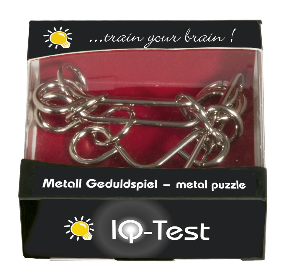 """Fridolin IQ Test Metall-Geduldspiel /""""M und W/"""""""