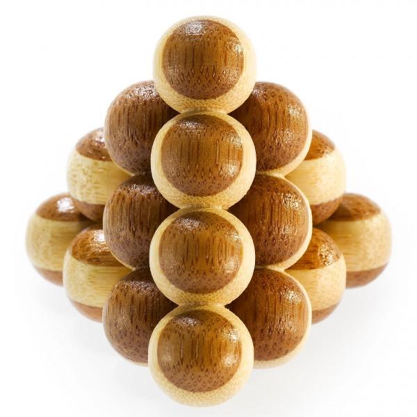 """Kleines Bambus Puzzle """"Cannon Balls"""""""