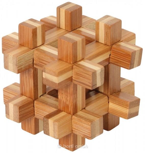"""Bambus-Puzzle """"Kugel im Käfig"""""""