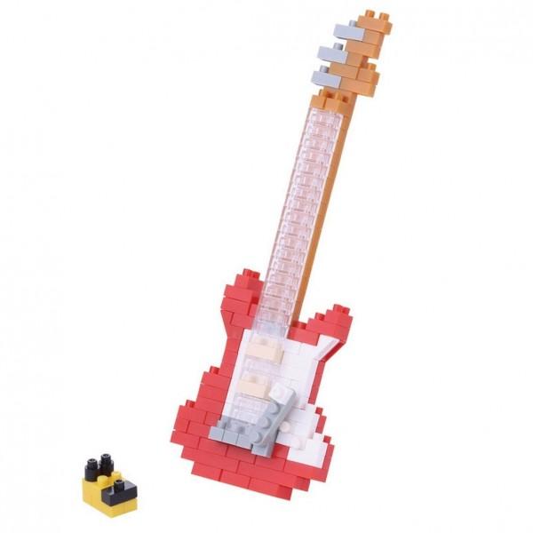 Nanoblock: E-Gitarre rot