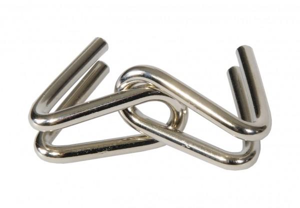 """Metallpuzzle """"Doppeltes U"""" in der Streichholzschachtel"""