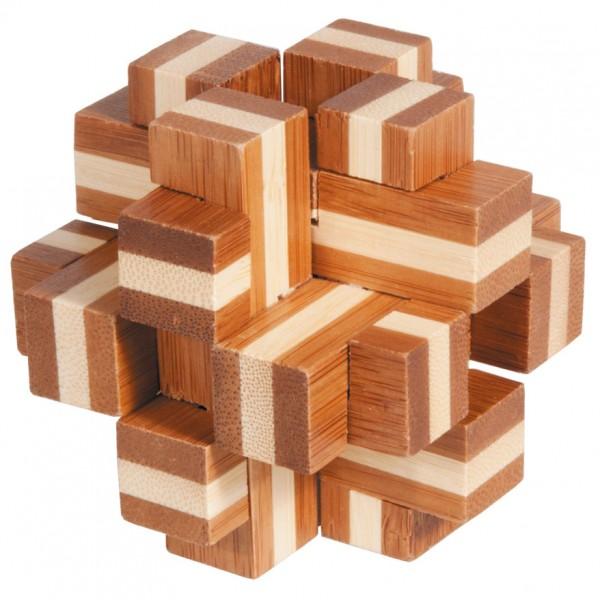 """Bambuspuzzle """"Würfelkreuz"""""""