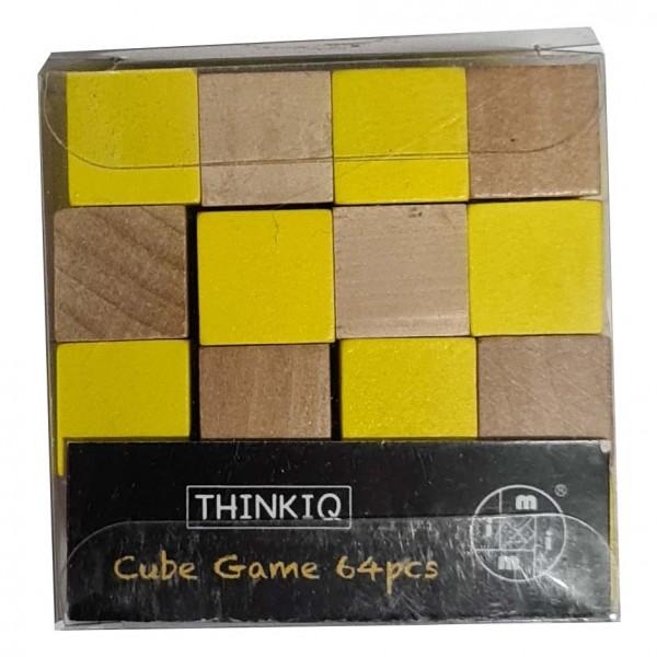Cube Game 64 Pieces Gelb