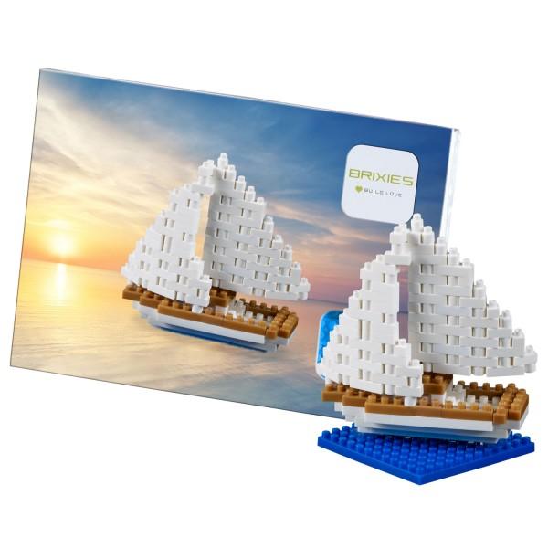 Brixies Postkarte Segelschiff