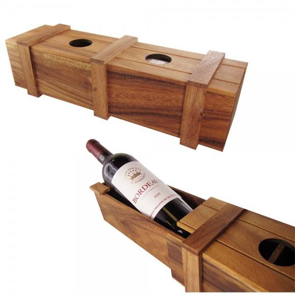 Magische Weingeschenkbox mit Trickverschluss