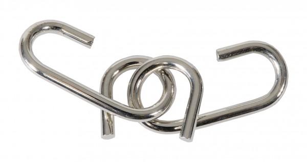 """Metallpuzzle """"Doppeltes J"""" in der Streichholzschachtel"""