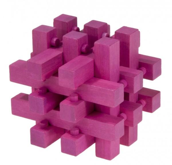 """Farbiges Bambuspuzzle """"Verschlossen"""" magenta"""