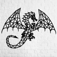 Holz-Wandpuzzle: Drachen