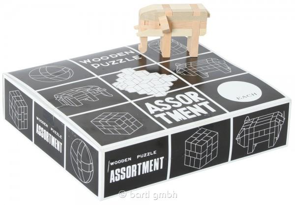 12 Japanische Holzpuzzles
