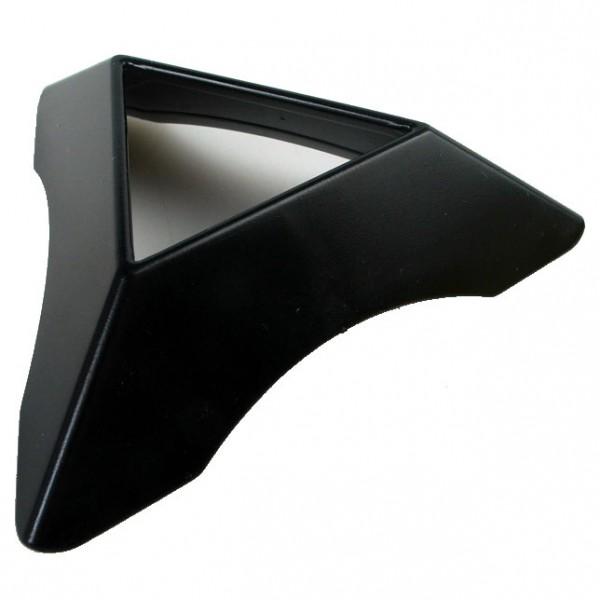 Dreieckiger Sockel für Cubes schwarz (Rundung)