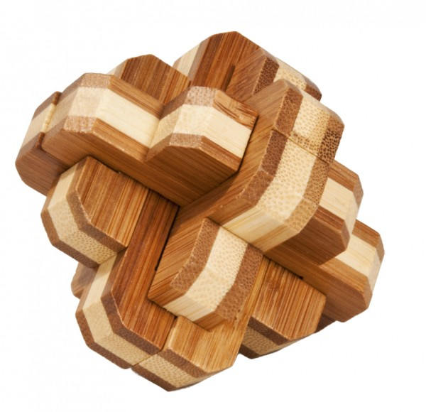 "Bambuspuzzle ""Runder Knoten"""